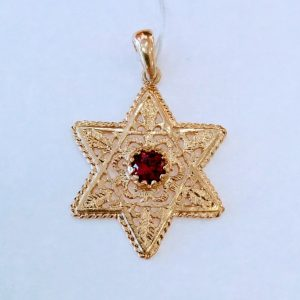 star of david gold necklace for women,
